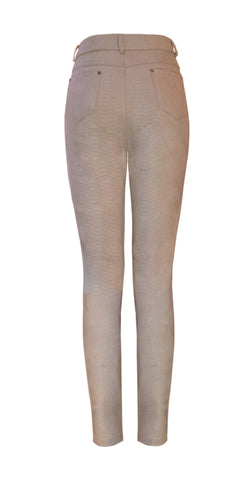 Beige suedette trousers