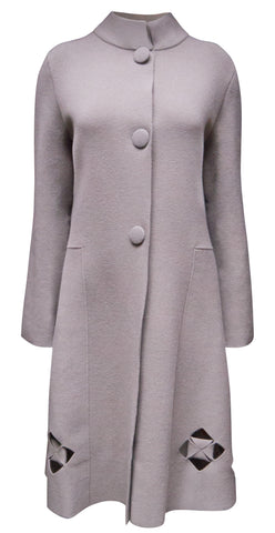 Cut out detail coat
