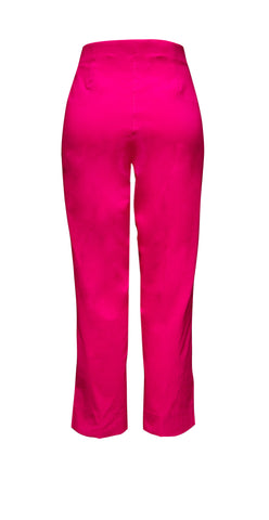 Cropped pink stretch trousers