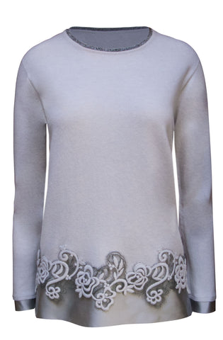 Silk/ Lace Hem Sweater