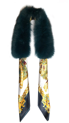 Fox fur collar - various colours available