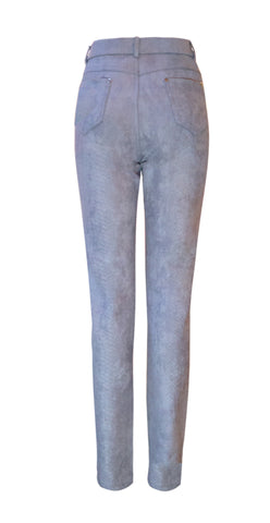 Light grey suedette trousers