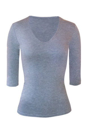 V-neck jersey top - also available in white and black