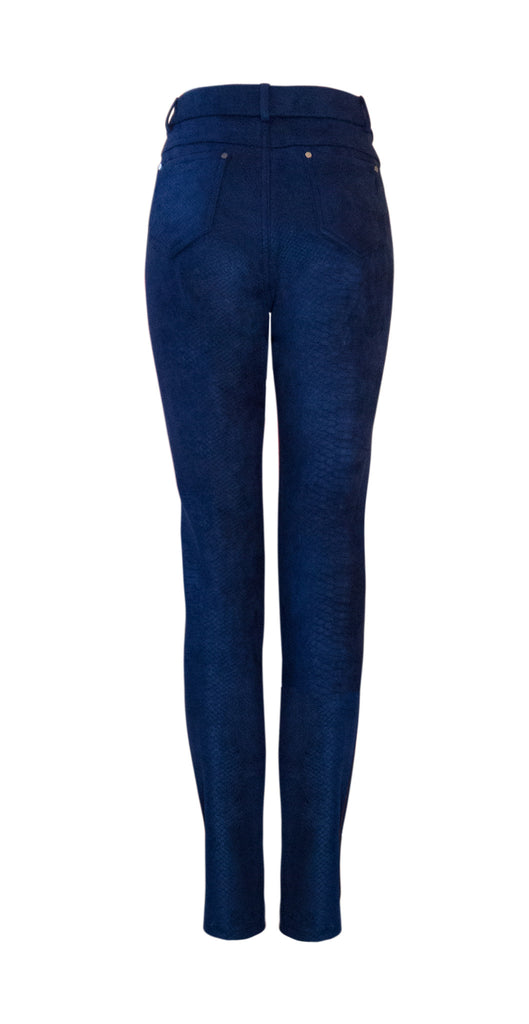Navy suedette trousers