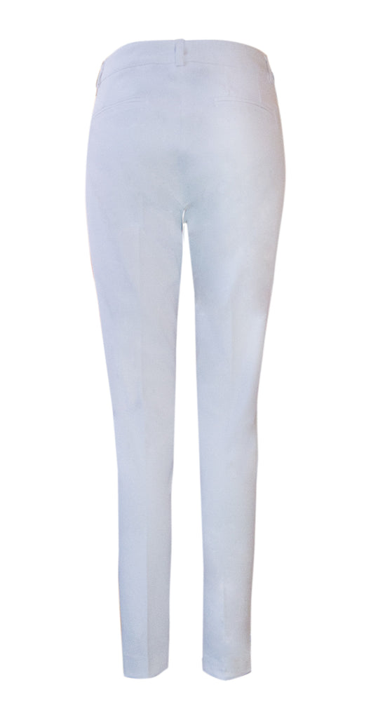 White stretch trousers - available also in navy