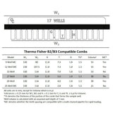 B2/B3 Owl 17-Well Thermo Fisher Compatible Comb