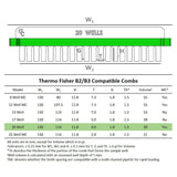 B2/B3 Owl 20-Well Thermo Fisher Compatible Comb