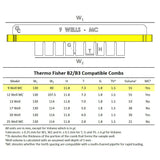 B2/B3 Owl 9-well Thermo Fisher Compatible Comb