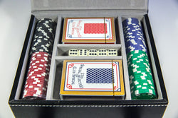 Leather bound Poker Set