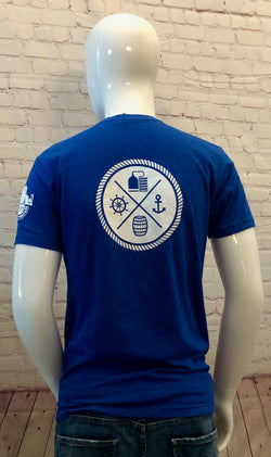 Men's Back Logo T-Shirt Royal Blue
