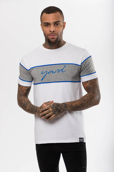 Panel T-Shirt Neon Blue - The Yard