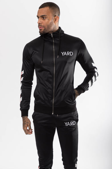 Co-ord Track Top Black - The Yard