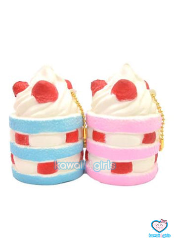 Strawberry Cake Squishies