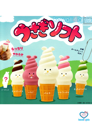 Ice Cream Rabbit Squishies