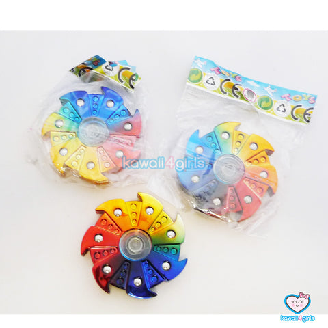 Metal Rainbow Wind Wheel Hand Fidget Spinner