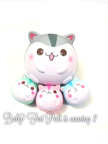 Baby Fat Poli Hamster Squishies
