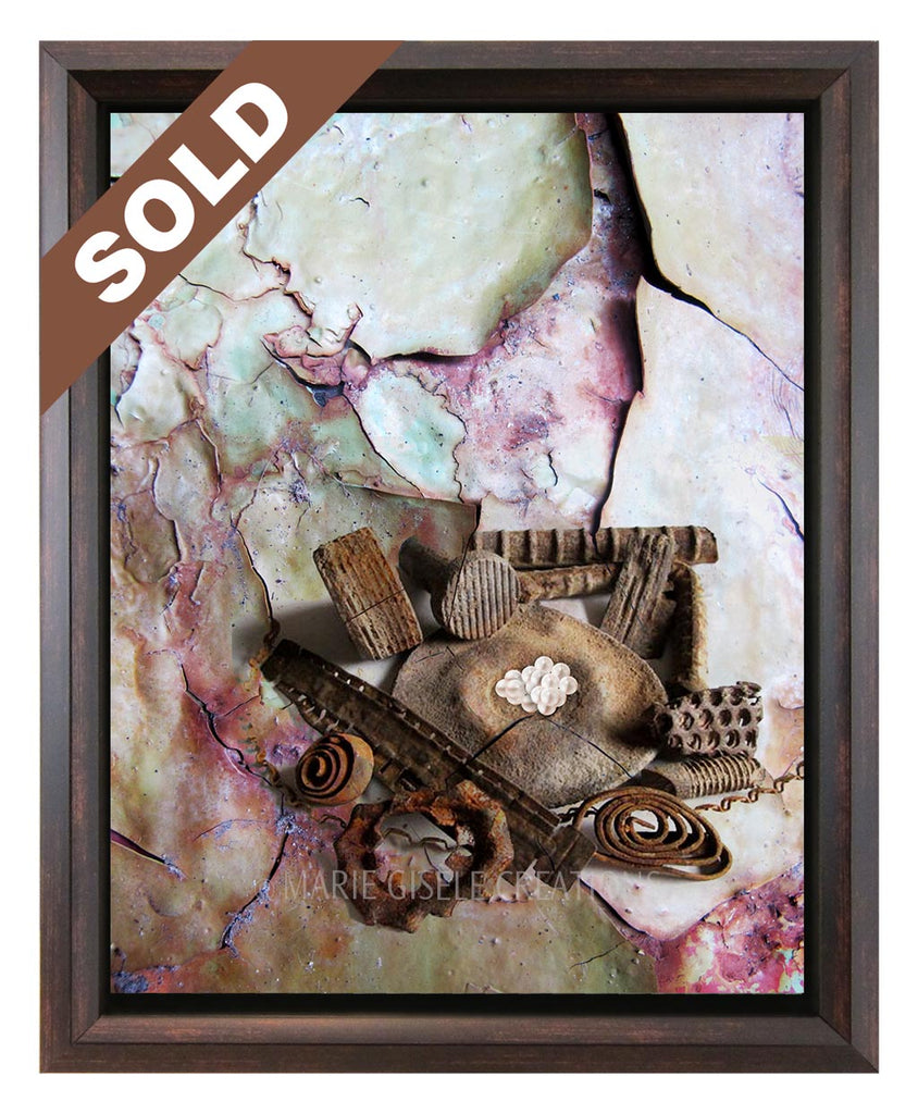 Abstract Rusted Metal Art
