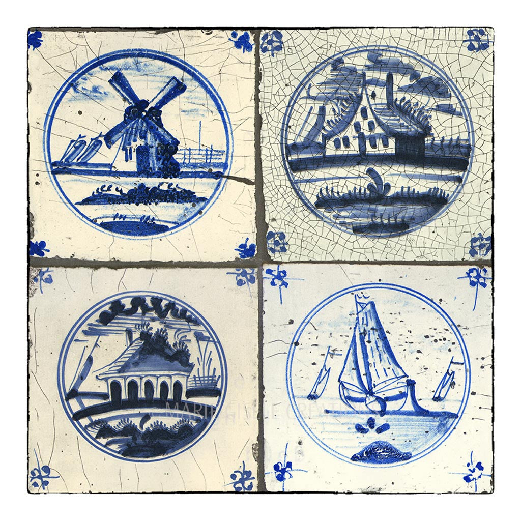 Blue Dutch Tile I
