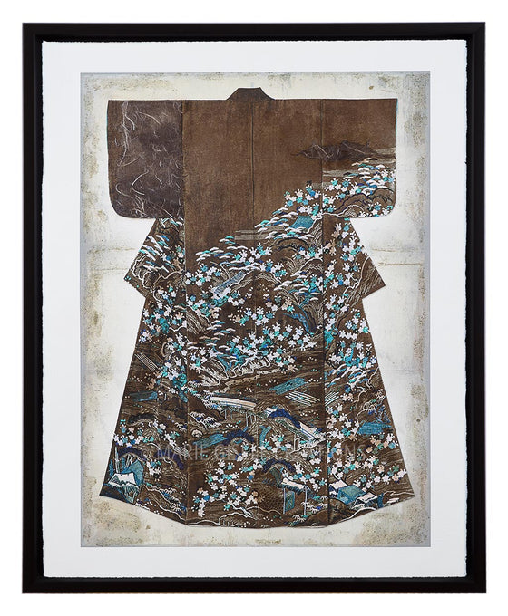 Brown and Blue Kimono