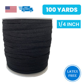 "1/4"" Elastic Black - 100 yards"