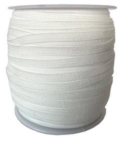 "1/4"" Elastic White - 100 yards"