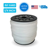 "1/4"" Elastic White - 50 yards"