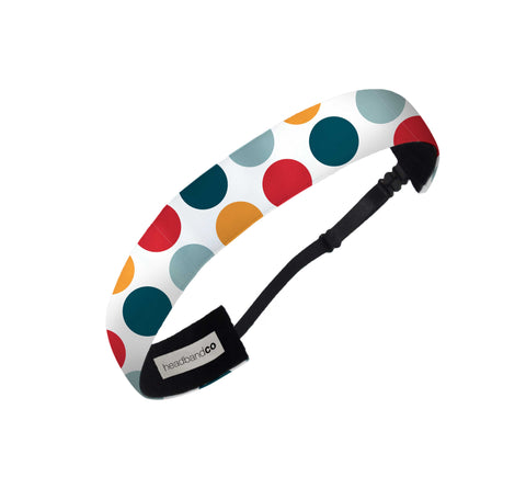 Retro Polka Dots Headband - Elastic Band Co.