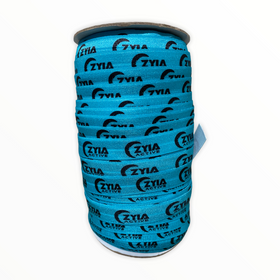 Custom Printed Fold Over Elastic by the Roll