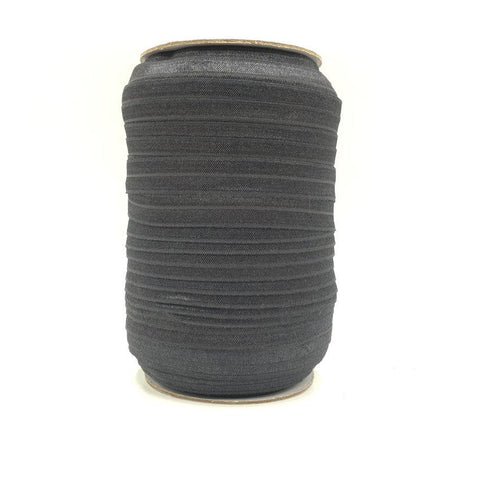 Charcoal Fold Over Elastic – 100 yards