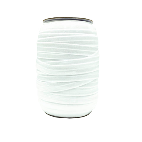 White Fold Over Elastic – 100 yards - Elastic Band Co.