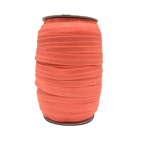 Coral Fold Over Elastic – 100 yards