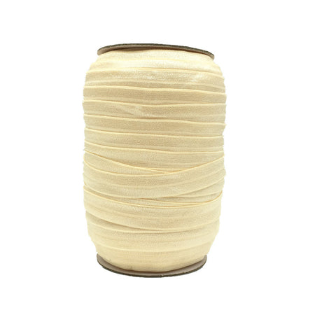 Beige Fold Over Elastic – 100 yards