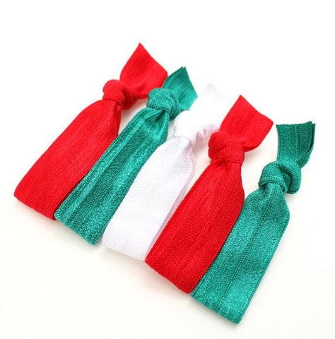Christmas Solid Hair Ties 3 Pack - Elastic Band Co.