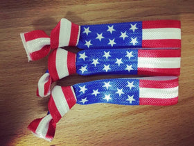 American Flag USA Hair Tie - Elastic Band Co.