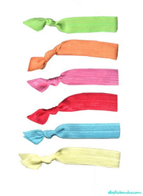 Spring Hair Tie 6 Pack - Elastic Band Co.
