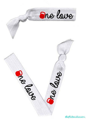 One Love (kettle bell) Hair Tie - Elastic Band Co.