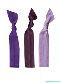 Purple Hair Tie 3 Pack - Elastic Band Co.