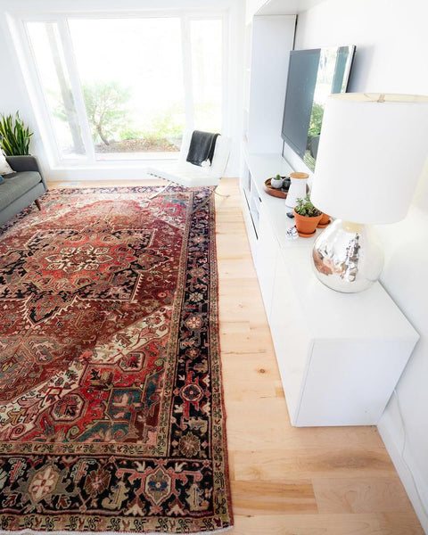 large persian area rug living room