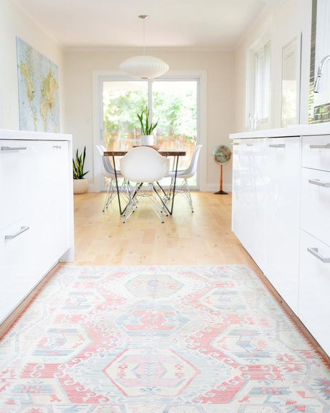 turkish kilim in kitchen
