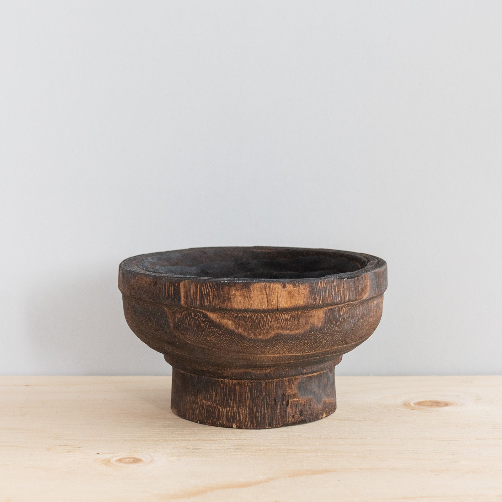 Wood Footed Bowl