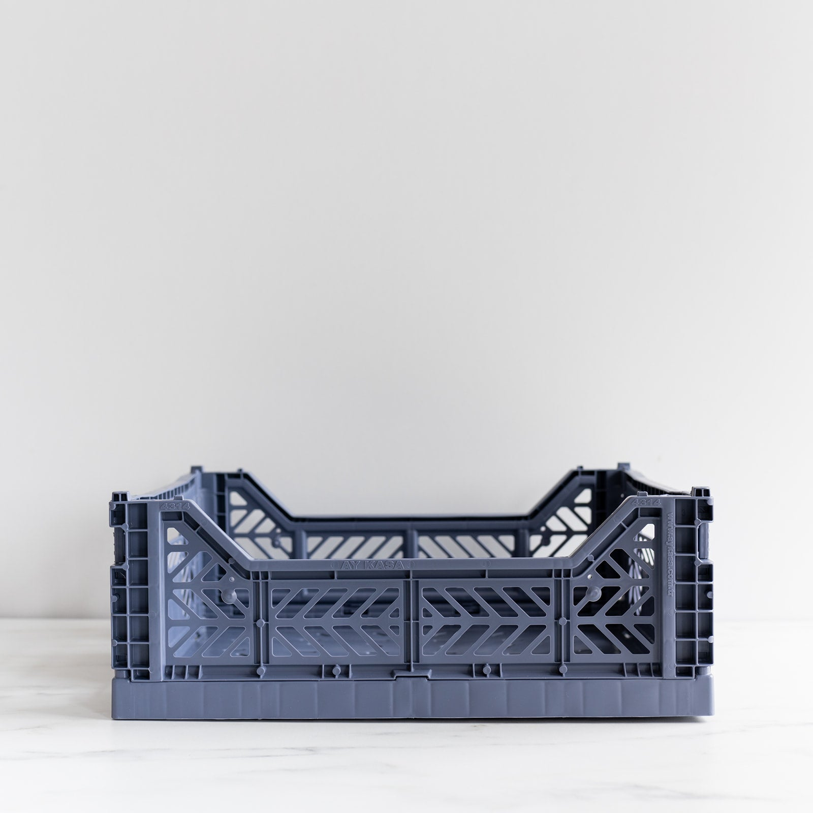 Cobalt Blue Folding Crate