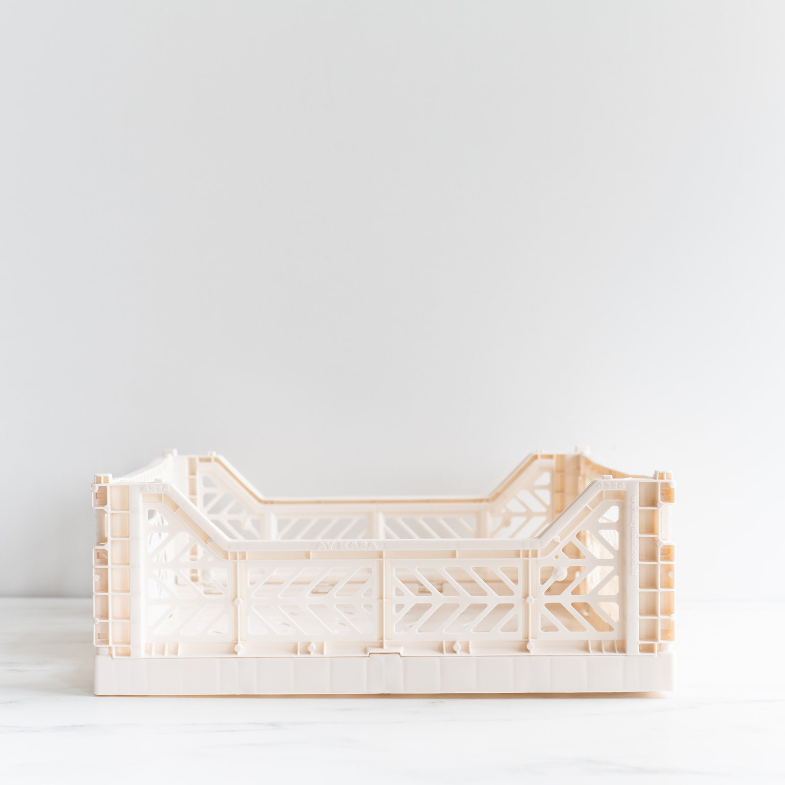 Coconut Milk White Folding Crate