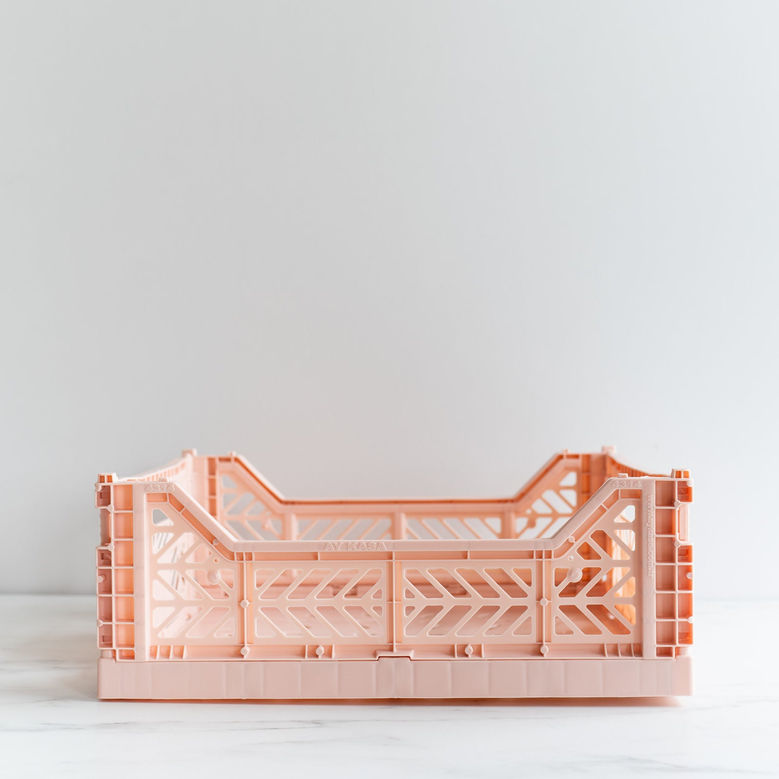 Milk Tea Pink Folding Crate