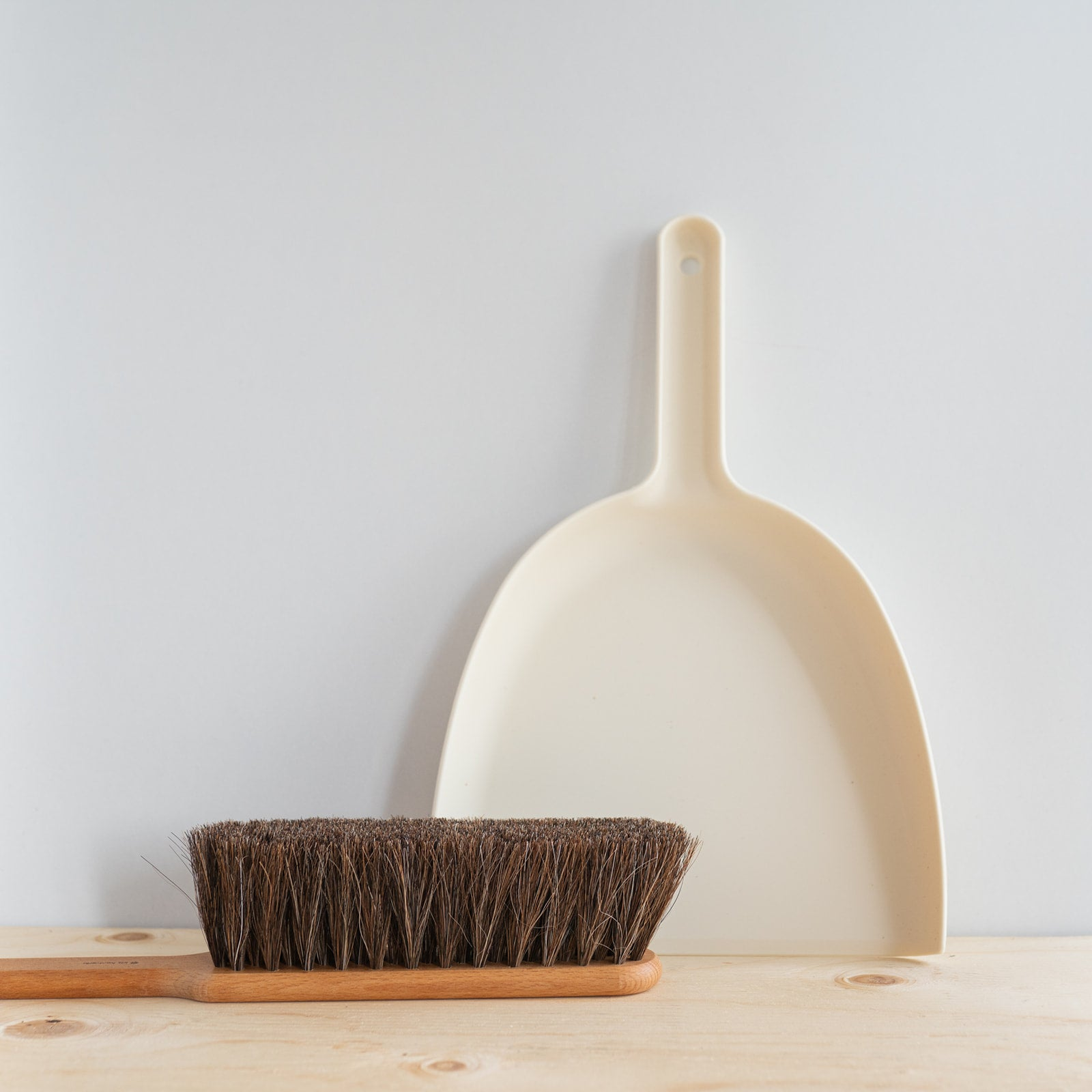 White Dustpan & Brush