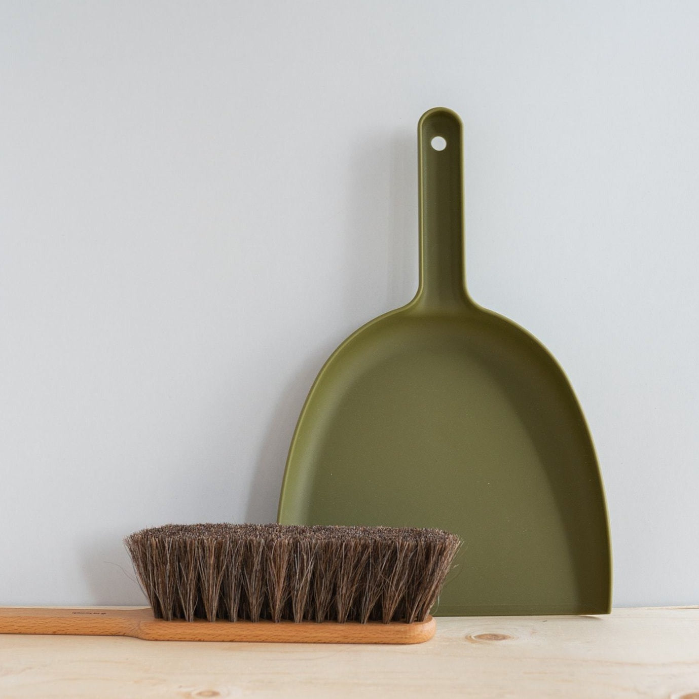 Moss Green Brush & Dust Pan