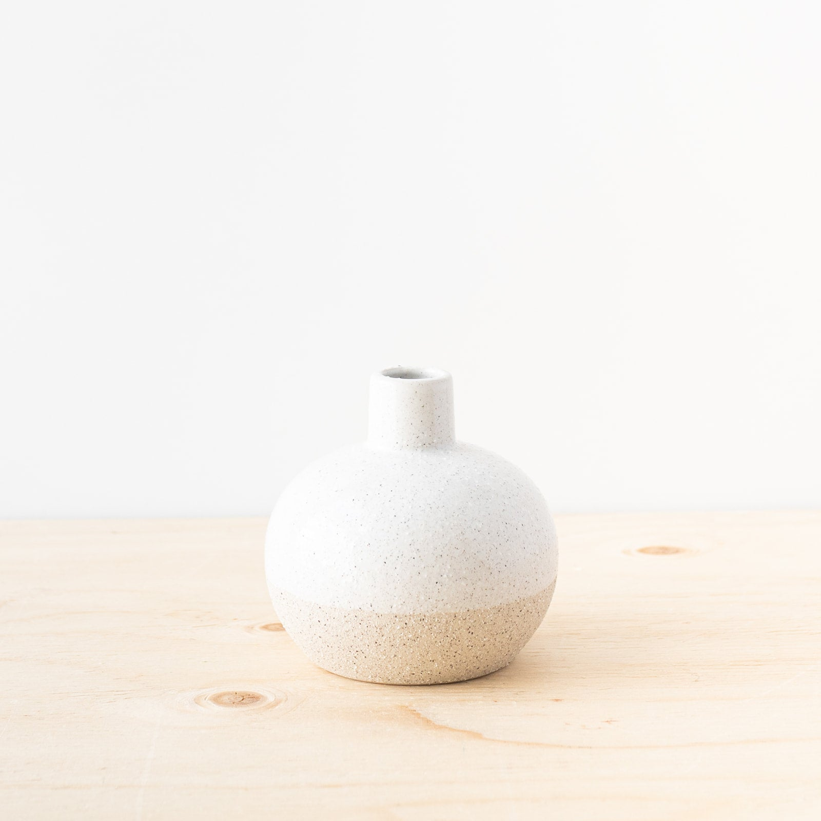 White Sand Finish Stoneware Vase