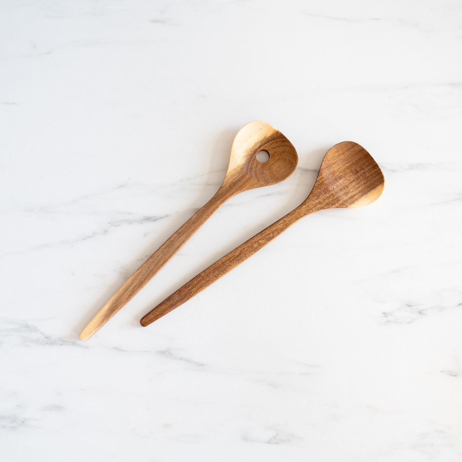 Wood Salad Servers Spoon Set - Rug & Weave