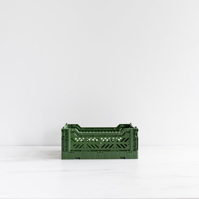 Forest Green Folding Crate