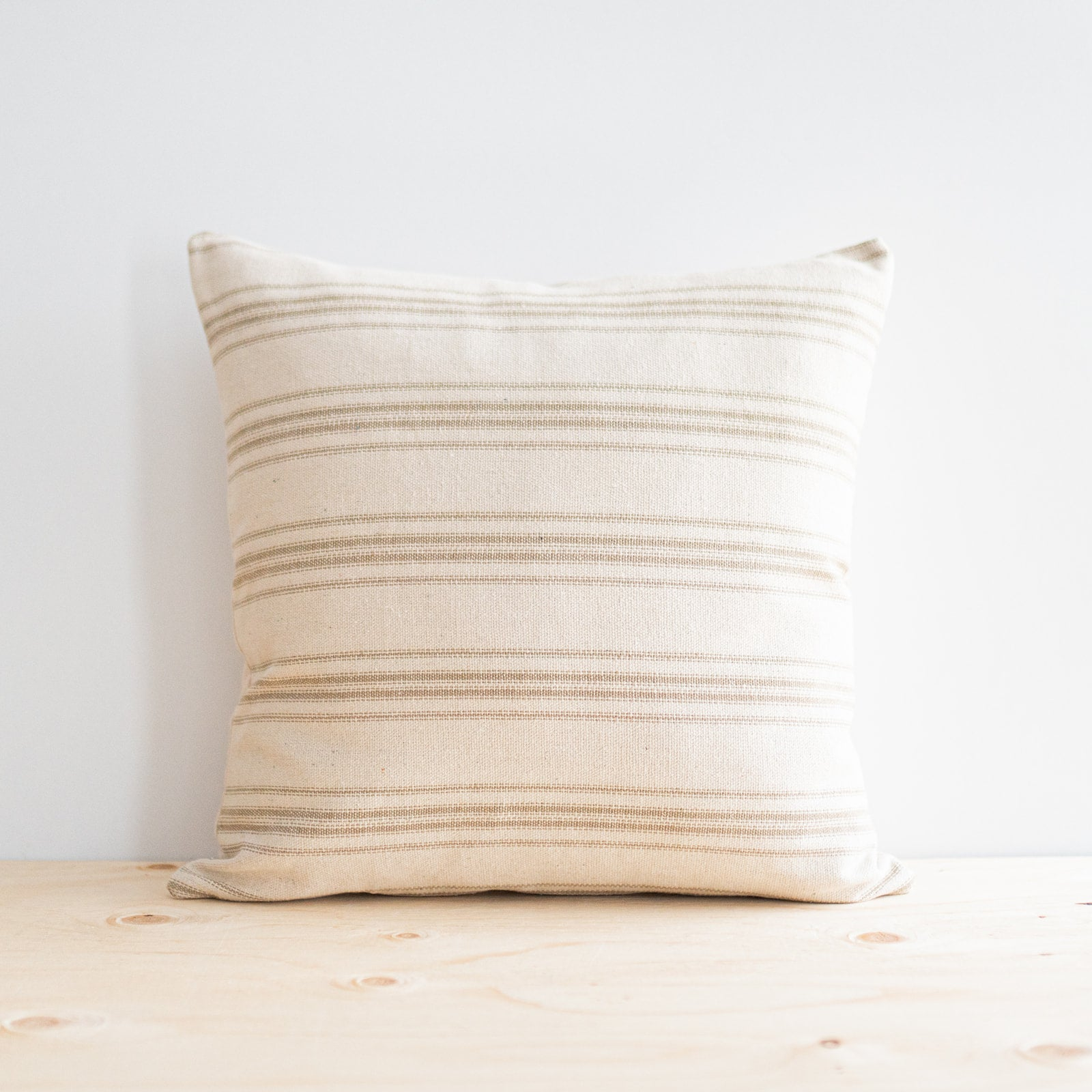 Cream Grain Sack Pillow