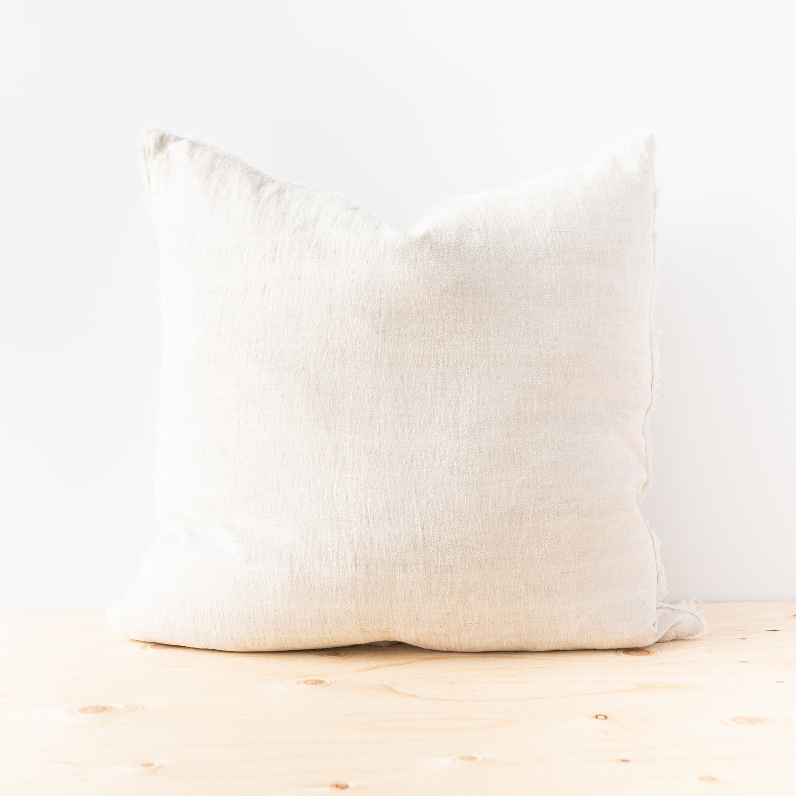 Lina Chambray Linen Pillow - Rug & Weave